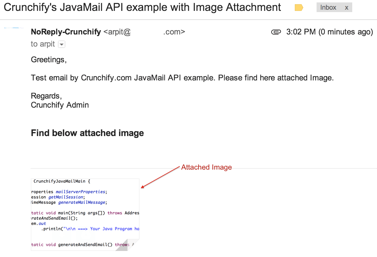 java send mail example: