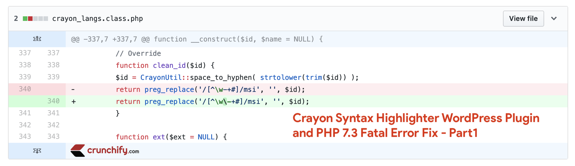 Fix for Crayon Syntax Highlighter WordPress Plugin and PHP